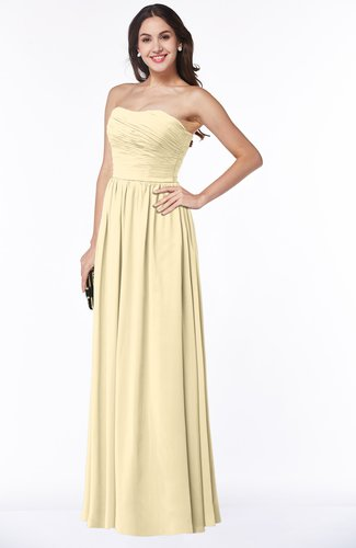 Classic Strapless Sleeveless Floor Length Ruching Plus Size Bridesmaid Dresses