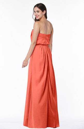 806a2b04eb66 ... Romantic A-line Strapless Half Backless Chiffon Ribbon Plus Size  Bridesmaid Dresses