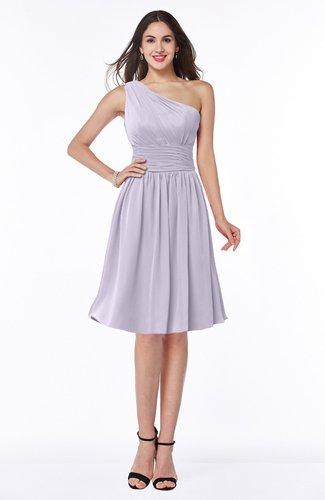 Cute A-line Sleeveless Chiffon Knee Length Plus Size Bridesmaid Dresses