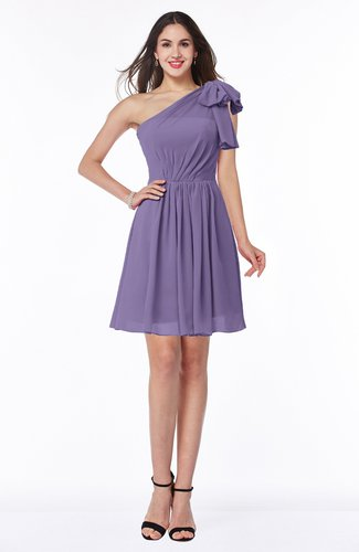 Casual A-line One Shoulder Sleeveless Half Backless Bow Bridesmaid Dresses