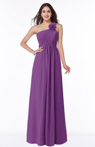 Informal Empire One Shoulder Sleeveless Chiffon Plus Size Bridesmaid Dresses