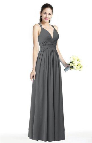 Simple Spaghetti Sleeveless Chiffon Sash Plus Size Bridesmaid Dresses