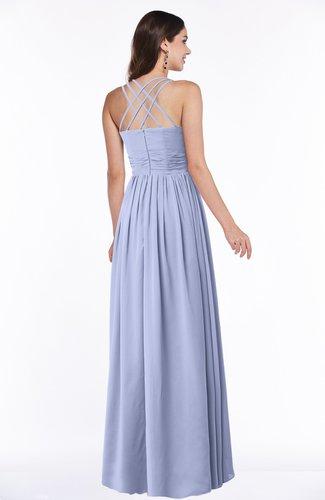 Lavender Simple Spaghetti Sleeveless Chiffon Sash Plus Size Bridesmaid  Dresses