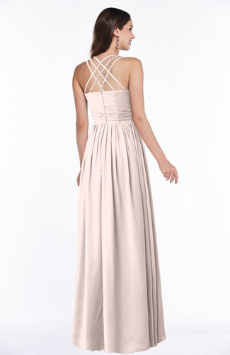 Silver Peony Simple Spaghetti Sleeveless Chiffon Sash Plus Size Bridesmaid  Dresses
