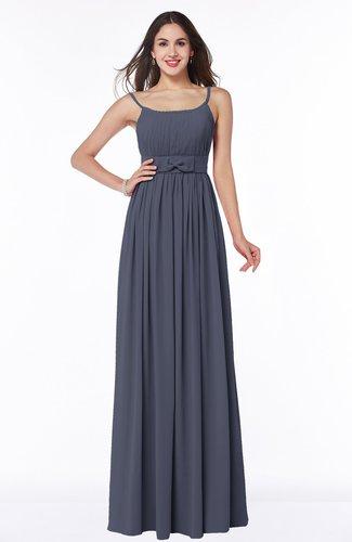 Modern A-line Spaghetti Zip up Floor Length Sash Plus Size Bridesmaid Dresses