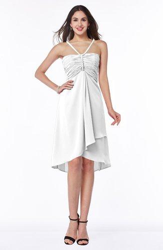 Simple A-line Spaghetti Zip up Chiffon Ruching Plus Size Bridesmaid Dresses