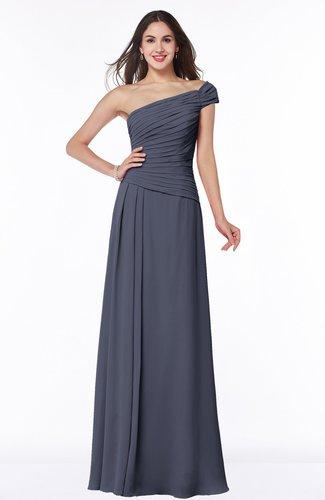 Modern A-line One Shoulder Sleeveless Floor Length Plus Size Bridesmaid Dresses