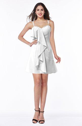 Traditional Spaghetti Sleeveless Chiffon Mini Ruffles Plus Size Bridesmaid Dresses