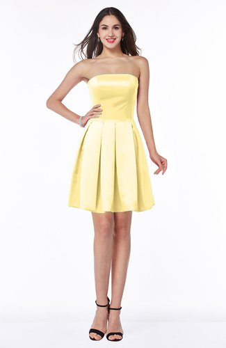 Traditional A-line Strapless Sleeveless Satin Pleated Plus Size Bridesmaid Dresses
