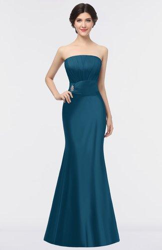 Elegant Sleeveless Zip up Floor Length Beaded Evening Dresses
