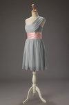 Cute A-line Asymmetric Neckline Sleeveless Zipper Chiffon Little Black Dresses