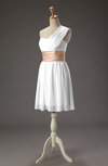 Romantic Sleeveless Zipper Chiffon Short Pleated Wedding Guest Dresses