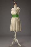 Cute A-line Zipper Chiffon Short Wedding Guest Dresses