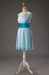 Cute A-line Sleeveless Zipper Short Pleated Bridesmaid Dresses