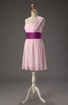 Cute A-line Sleeveless Zip up Chiffon Ribbon Party Dresses