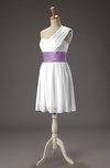 Cute A-line Sleeveless Zipper Ribbon Prom Dresses