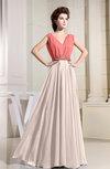 Vintage A-line Sleeveless Zipper Floor Length Pleated Prom Dresses