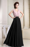 Informal A-line Zipper Floor Length Pleated Bridesmaid Dresses