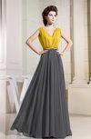 Informal A-line Sleeveless Zipper Chiffon Floor Length Bridesmaid Dresses