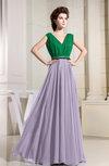 Elegant A-line V-neck Sleeveless Zip up Prom Dresses