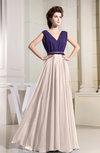 Vintage A-line V-neck Sleeveless Zipper Chiffon Bridesmaid Dresses