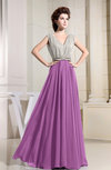 Elegant A-line V-neck Sleeveless Chiffon Bridesmaid Dresses