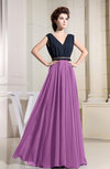 Casual A-line V-neck Sleeveless Chiffon Pleated Bridesmaid Dresses