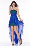 Sexy Strapless Sleeveless Half Backless Chiffon30 Plus Size Prom Dresses