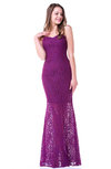 Plain Mermaid Sweetheart Half Backless Floor Length Lace Plus Size Prom Dresses