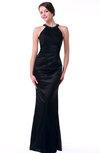 Classic Mermaid Jewel Sleeveless No Floor Length Plus Size Prom Dresses