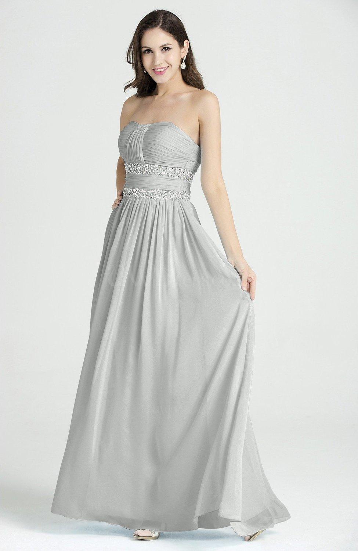 4101e368d14 Classic A-line Strapless Sleeveless Chiffon Rhinestone Plus Size Prom  Dresses