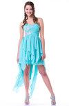 Casual A-line Sweetheart Sleeveless Rhinestone Plus Size Prom Dresses