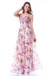 Hawaiian A-line Sweetheart Sleeveless Floor Length Plus Size Prom Dresses