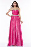Modern A-line Sweetheart Chiffon30 Floor Length Plus Size Prom Dresses