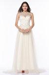 Modern Sheer Sleeveless Satin Rhinestone Plus Size Prom Dresses