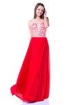 Sexy Sweetheart Zipper Chiffon Floor Length Plus Size Prom Dresses