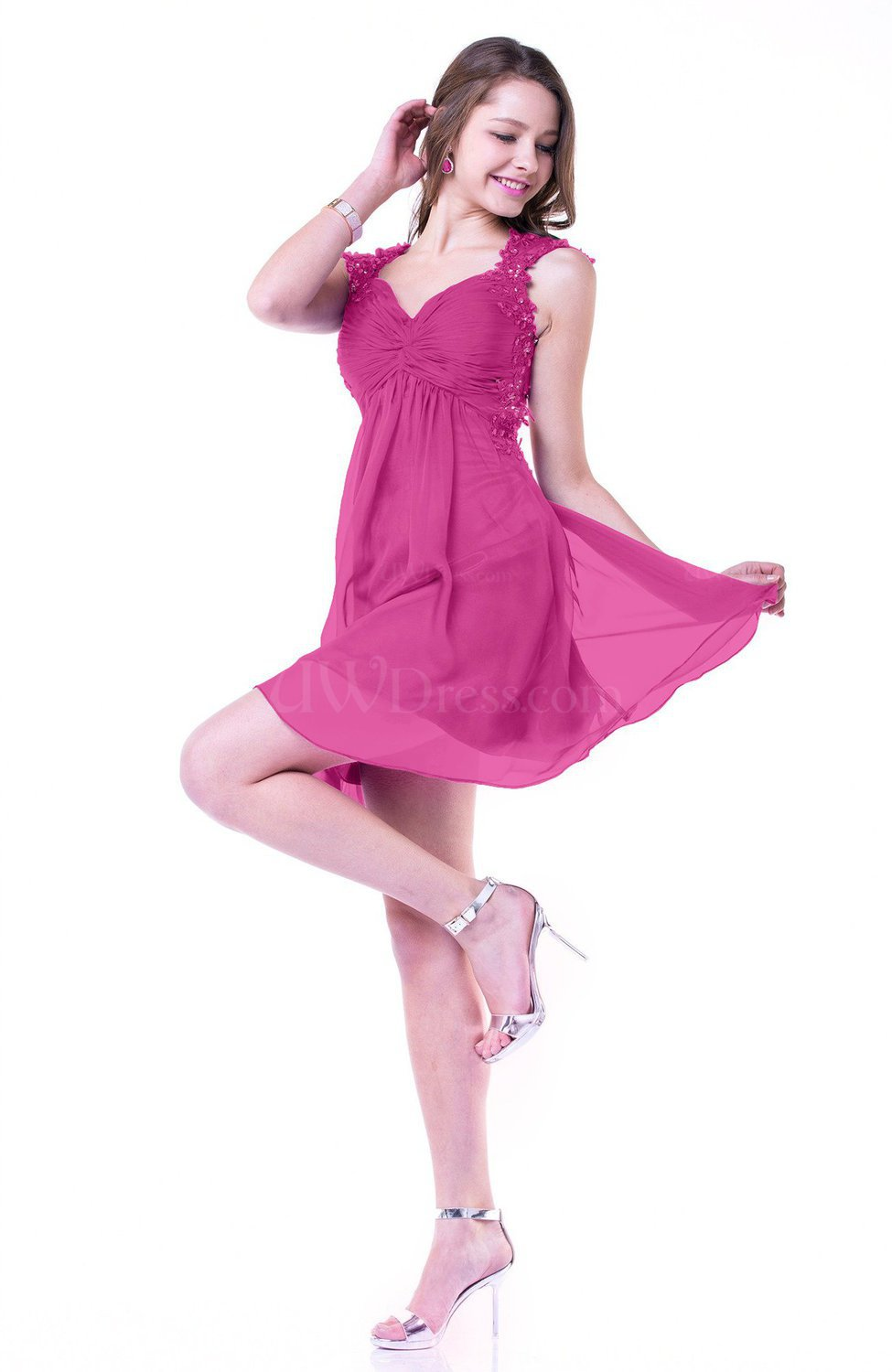 e43dfcf6c98d Hot Pink Hawaiian Thick Straps Sleeveless Short Sequin Plus Size Prom  Dresses (Style D30955)