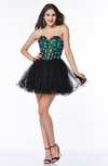Classic A-line Sweetheart Mini Ruffles Plus Size Prom Dresses