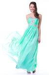 Romantic A-line Sweetheart Sleeveless Chiffon30 Floor Length Plus Size Prom Dresses