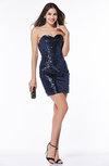 Modern Sheath Sweetheart Zipper Mini Paillette Plus Size Prom Dresses