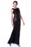 Luxury A-line Jewel Sleeveless Half Backless No Plus Size Prom Dresses