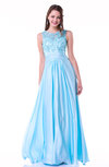 Romantic A-line Zipper Floor Length Sash Plus Size Prom Dresses