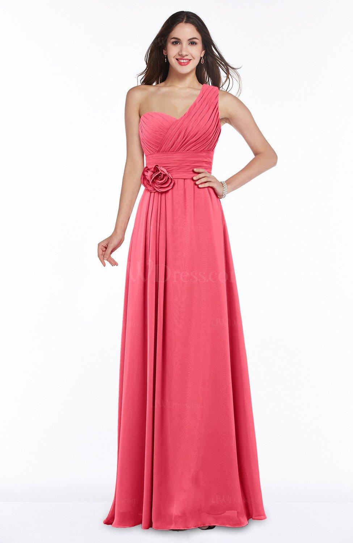 c6011914e7 Elegant Asymmetric Neckline Zipper Chiffon Ruching Plus Size Bridesmaid  Dresses