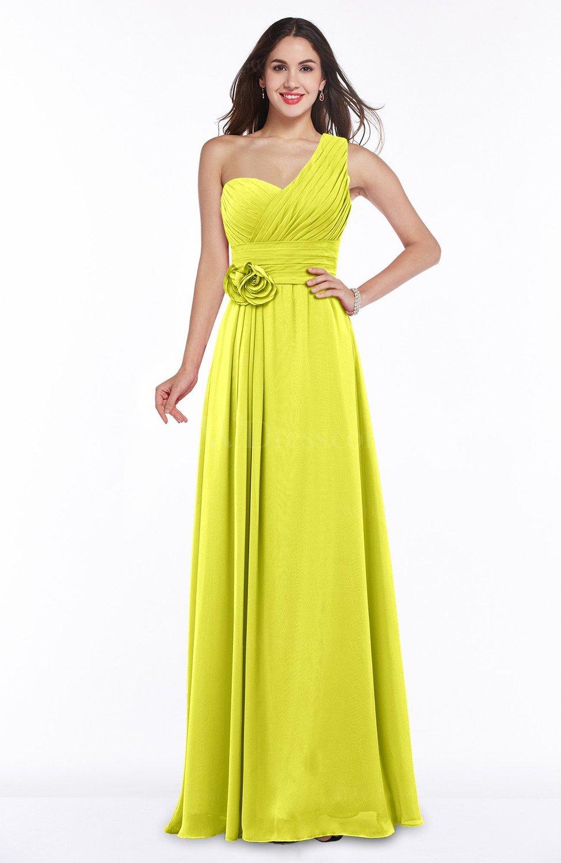 Sulphur Spring Elegant Asymmetric Neckline Zipper Chiffon Ruching Plus Size  Bridesmaid Dresses