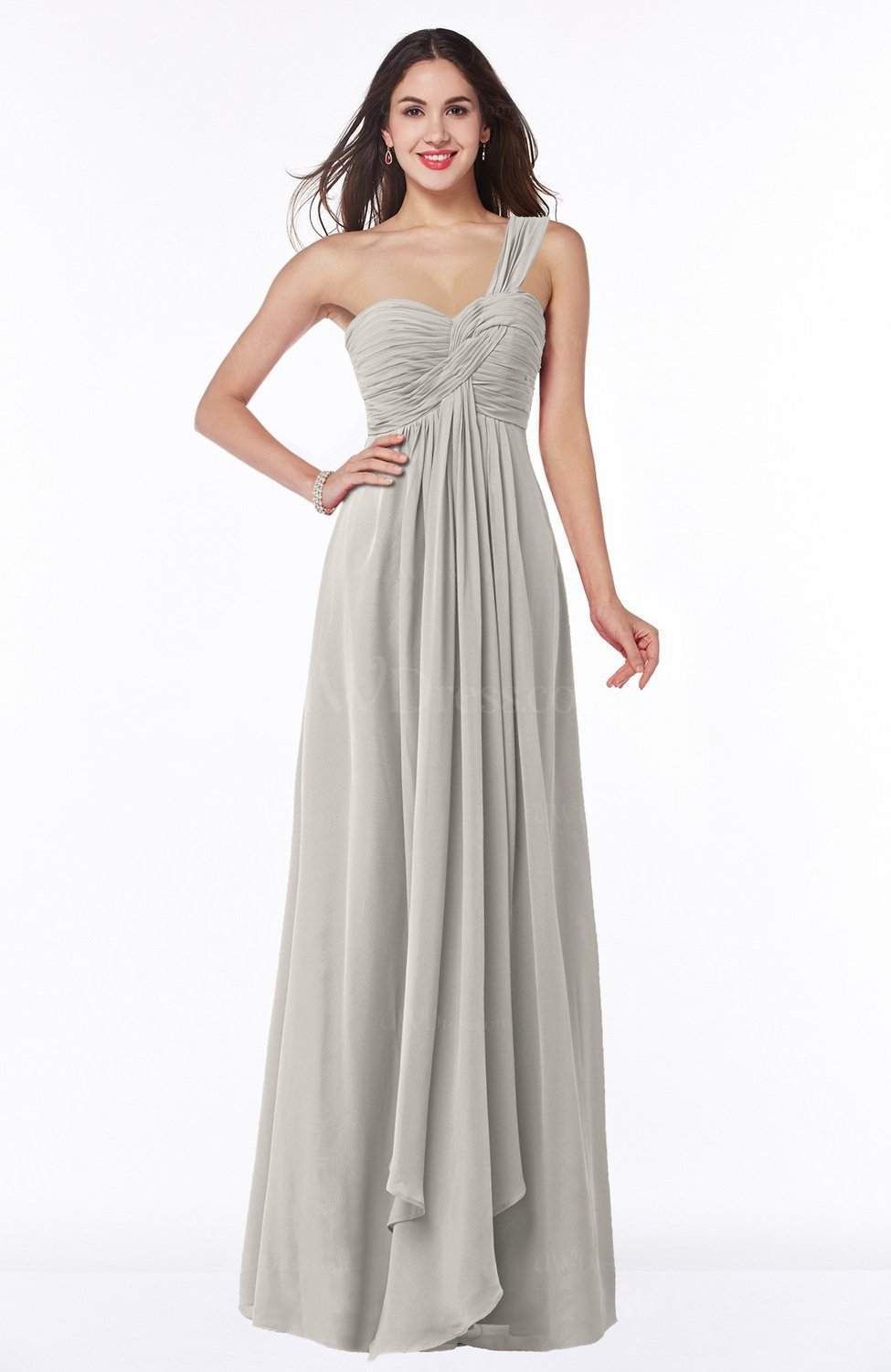 eedf095a3e Ashes Of Roses Sexy One Shoulder Sleeveless Zip up Floor Length Plus Size Bridesmaid  Dresses (Style D04859)