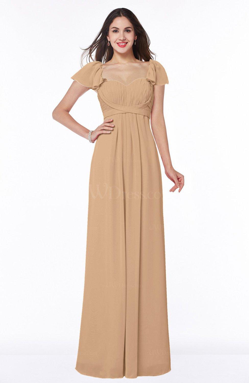c4599bcf222 Burnt Orange Modern Portrait Short Sleeve Floor Length Sash Plus Size  Bridesmaid Dresses (Style D30756)