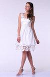 Modern Baby Doll V-neck Sleeveless Knee Length Plus Size Prom Dresses