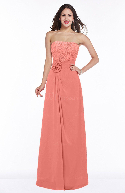 Desert Flower Disney Princess A-line Strapless Zipper Chiffon Plus Size  Bridesmaid Dresses