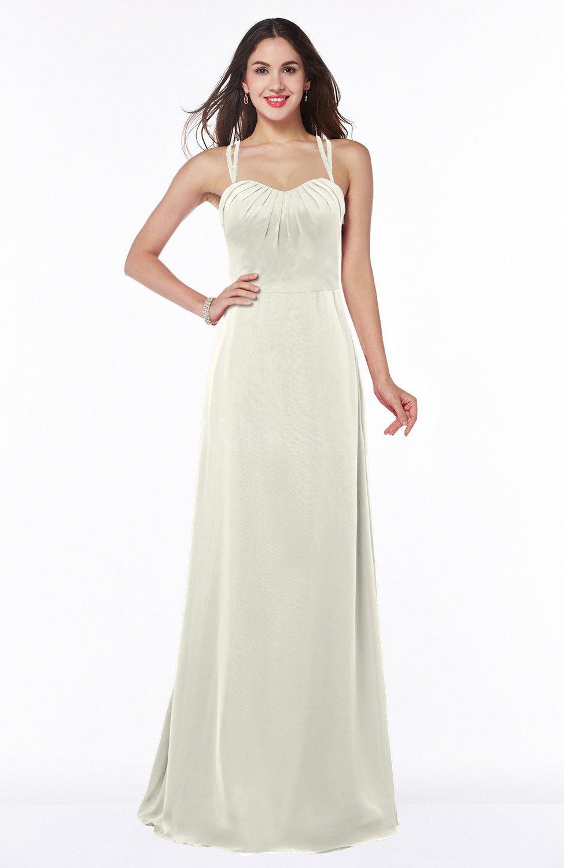 960be281955c6 Cream Mature A-line Sweetheart Sleeveless Chiffon Floor Length Plus Size Bridesmaid  Dresses (Style D60558)