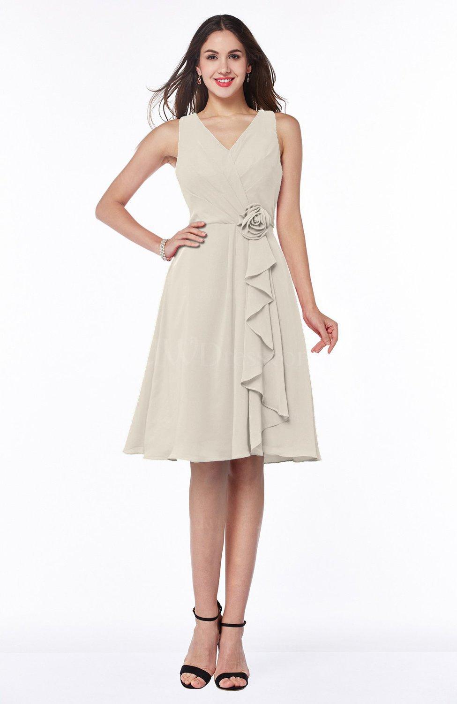bc25b8823c9 Champagne Casual A-line V-neck Zip up Fringe Plus Size Bridesmaid Dresses ( Style D76986)